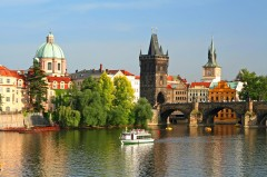 Karlsbroen, gotisk byport, Praha, Stare Mesto, Unesco Verdensarven, middelalder, markedsplassen, Karlsbroen, Böhmen, Tsjekkia