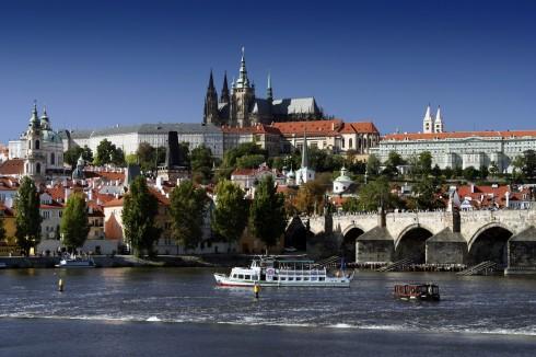 St Vitus katedral, Karlsbroen, Praha, Stare Mesto, Unesco Verdensarven, middelalder, markedsplassen, Böhmen, Tsjekkia