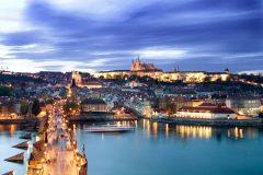 Karlsbroen, St Vitus, Borghøyden, Praha, Stare Mesto, Unesco Verdensarven, middelalder, markedsplassen, Karlsbroen, Böhmen, Tsjekkia