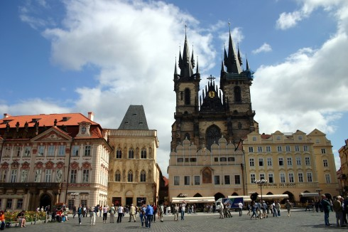 Markedsplassen med Tyn-kirken, Praha, Stare Mesto, Unesco Verdensarven, middelalder, markedsplassen, Karlsbroen, Böhmen, Tsjekkia