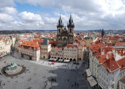 Praha, Stare Mesto, markedsplassen, Karlsbroen, Böhmen, Tsjekkia,