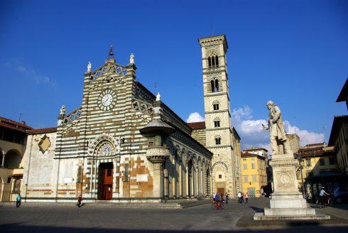 Marco Datini, Duomo, Piazza Duomo, Prato, gamleby, middelalder, romansk, historisk, Toscana, Midt-Italia, Italia