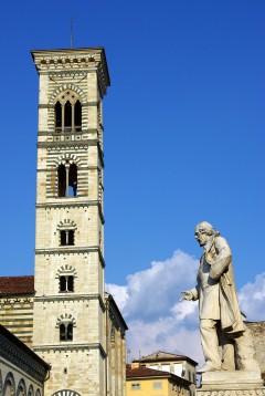 Duomo, campanile, Prato, gamleby, middelalder, romansk, historisk, Toscana, Midt-Italia, Italia