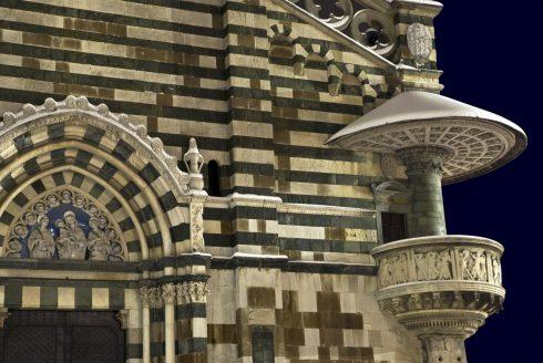 """Relikviet """"Det hellige bånd"""", Prato, gamleby, middelalder, romansk, historisk, Toscana, Midt-Italia, Italia"""
