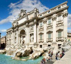 Trevi-fontenen, Roma, Unescos liste over Verdensarven, romerriket, Forum, antikken, historiske bydeler, gamlebyen, Trastevere, den evige stad, Tiber, Vatikanet, Panthon, Roma, Midt-Italia, Italia