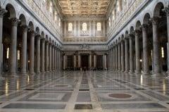 Basilica San Paolo fuori le Mura , Roma, Unescos liste over Verdensarven, romerriket, Forum, antikken, historiske bydeler, gamlebyen, Trastevere, den evige stad, Tiber, Vatikanet, Panthon, Roma, Midt-Italia, Italia