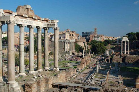 Forum Romanum, Roma, Unescos liste over Verdensarven, romerriket, Forum, antikken, historiske bydeler, gamlebyen, Trastevere, den evige stad, Tiber, Vatikanet, Panthon, Roma, Midt-Italia, Italia