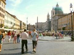Piazza Navona, Roma, Unescos liste over Verdensarven, romerriket, Forum, antikken, historiske bydeler, gamlebyen, Trastevere, den evige stad, Tiber, Vatikanet, Panthon, Roma, Midt-Italia, Italia