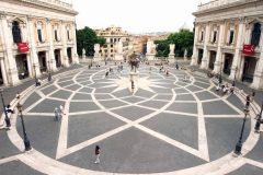 Piazza Campidoglio, Roma, Unescos liste over Verdensarven, romerriket, Forum, antikken, historiske bydeler, gamlebyen, Trastevere, den evige stad, Tiber, Vatikanet, Panthon, Roma, Midt-Italia, Italia