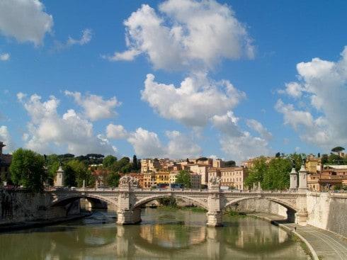 Ponte Fabricio, Roma, Unescos liste over Verdensarven, romerriket, Forum, antikken, historiske bydeler, gamlebyen, Trastevere, den evige stad, Tiber, Vatikanet, Panthon, Roma, Midt-Italia, Italia