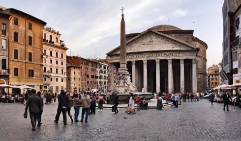 Pantheon, Piazza Rotonda, Roma, Unescos liste over Verdensarven, romerriket, Forum, antikken, historiske bydeler, gamlebyen, Trastevere, den evige stad, Tiber, Vatikanet, Panthon, Roma, Midt-Italia, Italia
