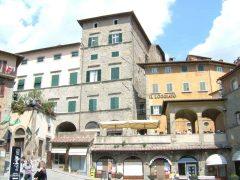 Piazza Signorelli, Cortona, etruskerne, middelalder, Toscana, Midt-Italia, Italia