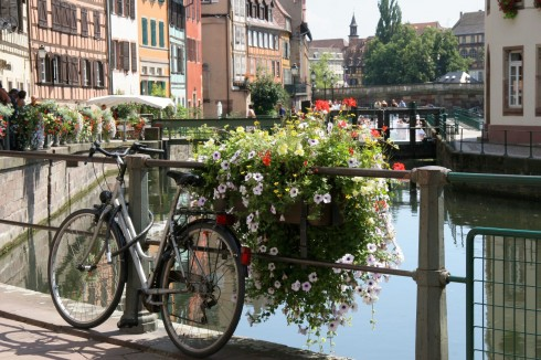 Strasbourg, Grand Île, gamleby, historiske bysenter, Unescos liste over Verdensarven, bindingsverk, kanaler, Palais Rohan, Nord-Frankrike, Frankrike