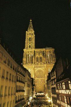 Strasbourg, Münster-katedral, Grand Île, gamleby, historiske bysenter, Unescos liste over Verdensarven, bindingsverk, kanaler, Palais Rohan, Nord-Frankrike, Frankrike