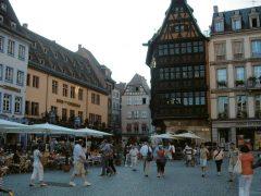 Strasbourg, Maison Kammerzell, Grand Île, gamleby, historiske bysenter, Unescos liste over Verdensarven, bindingsverk, kanaler, Palais Rohan, Nord-Frankrike, Frankrike