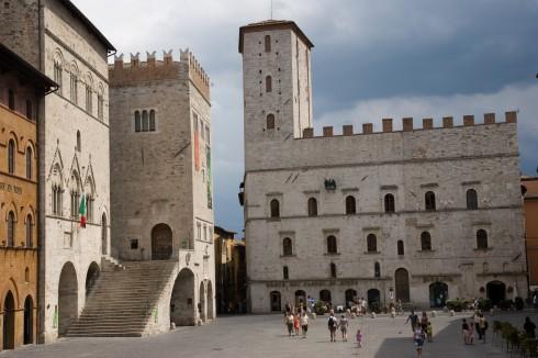 Todi, renessanse, middelalder, historisk bydel, gamleby, Umbria, Midt-Italia, Italia