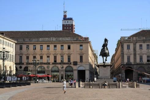Piazza San Carlos, Torino, Valle d'Aosta og Piemonte, Unescos liste over Verdensarven, barokk-arkitektur, Nord-Italia, Italia