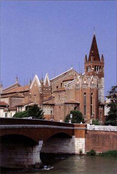 Verona, San Fermo, Arena, Piazza delle Erbe, Piazza Signori, Piazza Bra, Unescos liste over Verdensarven, romerriket, antikken, historiske bydeler, gamlebyen, Veneto, Nord-Italia, Italia