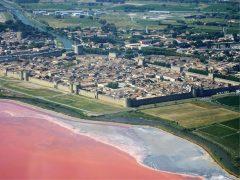 Festningsbyen, Aigues Mortes, camargues, Sør-Frankrike, Frankrike