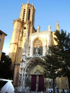 Cathédrale St-Saveur, Aix-en-Provence, Provence, Cote d'Azur, Sør-Frankrike, Frankrike