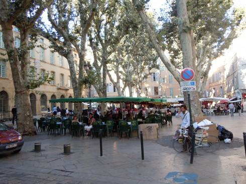 Cours Mirabeau, Aix-en-Provence, Provence, Cote d'Azur, Sør-Frankrike, Frankrike
