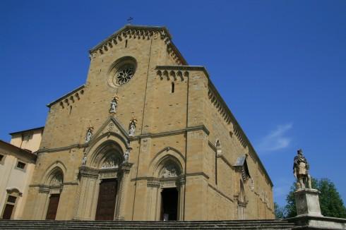 Duomo, Arezzo, gamleby, middelalder, romansk, historisk, Toscana, Midt-Italia, Italia