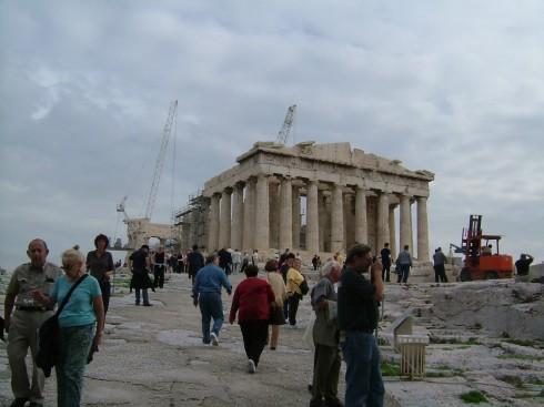 Parthenon-tempelet på Akropolis, Athen, Hellas