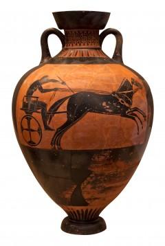 Sortfigur vase fra Athen 6. århundre før Kristus