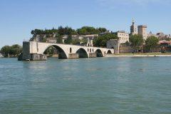 Pont St.-Bénezét, Avignon, Unescos liste over Verdensarven, Pavepalasset, Vieux ville, gamlebyen, middelalder, Rhône, Sør-Frankrike, Frankrike