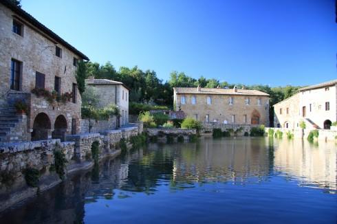 Bagni Vignoni, renessanse, Toscana, Midt-Italia, Italia