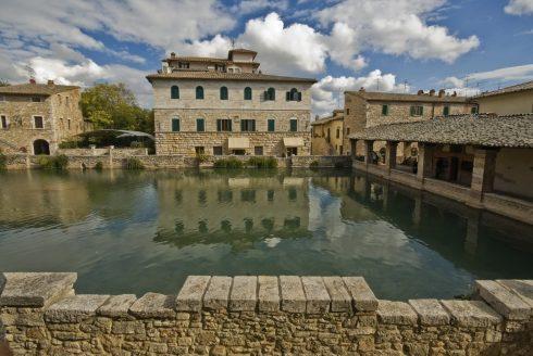 Bagni Vignoni, Toscana, Midt-Italia, Italia