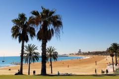 Badestrender, Barceloneta, Barcelona, katalansk, Unescos liste over Verdensarven, Antoni Gaudi, Guell, Catalunia, Spania