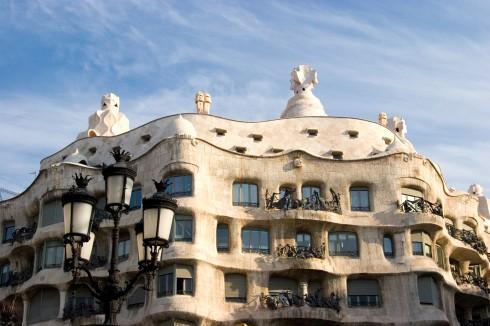 Gaudis Casa Milà, Barcelona, katalansk, Unescos liste over Verdensarven, Antoni Gaudi, Guell, Catalunia, Spania