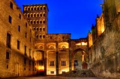 La Placa del Rei , Barri Gotic, katalansk, Unescos liste over Verdensarven, Catalunia, Spania