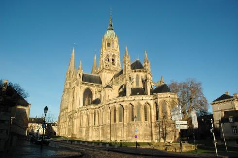 Cathédrale Notre Dame de Bayeux, Bayeux, vielle ville, gamlebyen, middelalder, bindingsverk, historisk bysenter, Normandie, Vest-Frankrike, Frankrike