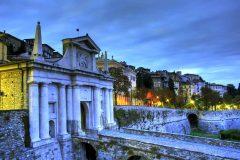 Bergamo Altas Porta San Giacomo, Lombardia, Nord-Italia, Italia