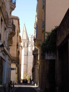 middelalder, gamleby, Vieux Ville, Béziers, Languedoc, Sør-Frankrike, Frankrike