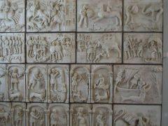 St Columbanus klostermuseum, Bobbio, middelalder, Columban, Emilia Romagna, Nord-Italia, Italia