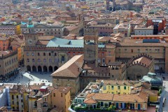 Piazza Maggiore med Palazzo Comunale, Bologna, Unescos liste over Verdensarven, middelalderen, historiske bydeler, gamlebyen, Emilia-Romagna, Nord-Italia, Italia