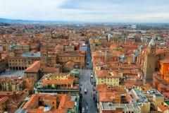 Via Ugo Bassi, Bologna, Unescos liste over Verdensarven, middelalderen, historiske bydeler, gamlebyen, Emilia-Romagna, Nord-Italia, Italia