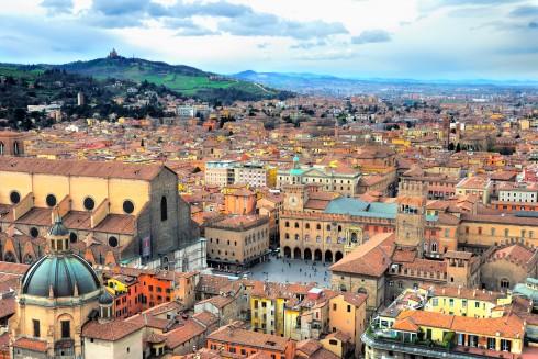 Piazza Maggiore, Bologna, Unescos liste over Verdensarven, middelalderen, historiske bydeler, gamlebyen, Emilia-Romagna, Nord-Italia, Italia