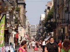 Rue Ste. Catherine, Bordeaux, Medoc, Unescos liste over Verdensarven, Vieux ville, gamlebyen, middelalder, Sør-Frankrike, Frankrike
