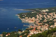 Brac, Bol, Det gylne horn, den gylne stranden, Dalmatia, Makarskakysten, Split og øyene, Kroatia