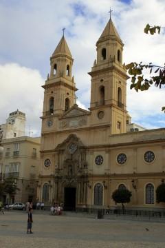 Plaza San Antonio, Cadiz, historisk bydel, romersk teater, gamleby, Casco Antiguo, Andalucia, Spania