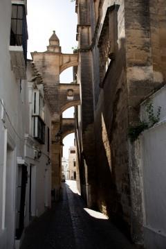 El Popolo, Cadiz, historisk bydel, romersk teater, gamleby, Casco Antiguo, Andalucia, Spania