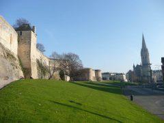 Chateau de Caen, kirken St Pierre, Caen, bindingsverk, Vieux Ville, Unescos liste over Verdensarven, Normandie, Vest-Frankrike, Frankrike