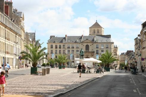 Place Saint-Sauveur, Caen, bindingsverk, Vieux Ville, Unescos liste over Verdensarven, Normandie, Vest-Frankrike, Frankrike