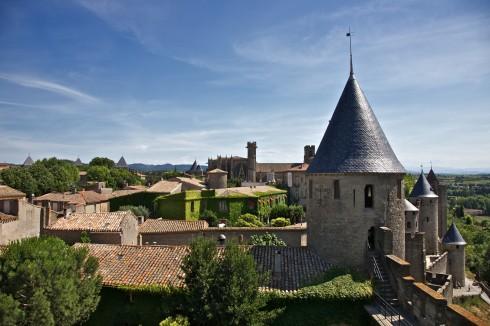Carcassonne, citadell, Vieux ville, gamlebyen, middelalder, Sør-Frankrike, Frankrike