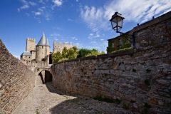 Carcassonne, festningsby, citadell, Vieux ville, gamlebyen, middelalder, Sør-Frankrike, Frankrike