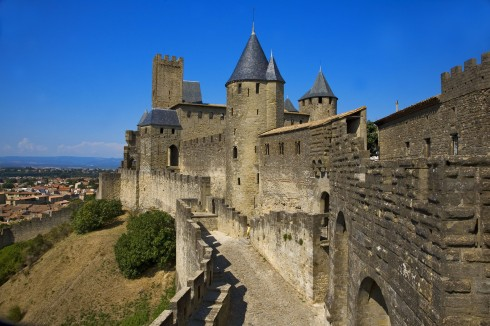Carcassonne, Unscos liste over Verdensarven, festningsby, citadell, Vieux ville, gamlebyen, middelalder, Sør-Frankrike, Frankrike